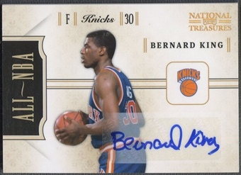 2010/11 Playoff National Treasures #19 Bernard King All NBA Signatures Auto #93/99