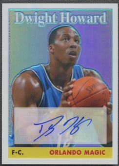 2008/09 Topps Chrome #12 Dwight Howard 1958-59 Variations Refractor Auto #37/45