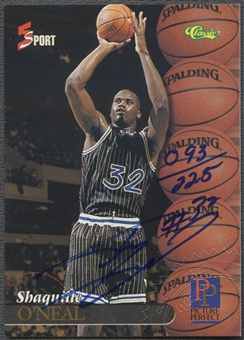 1995 Classic Five Sport #199 Shaquille O'Neal Auto #093/225