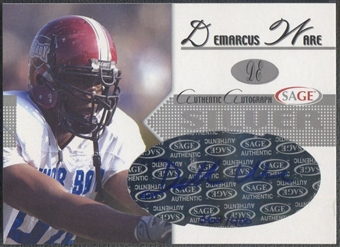 2005 SAGE #A45 DeMarcus Ware Silver Rookie Auto #362/400