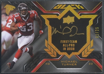 2009 UD Black #BPSMT Michael Turner Biography Plaque Auto #01/25