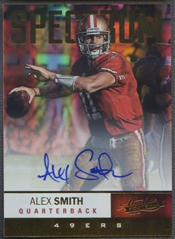 2012 Absolute #79 Alex Smith Spectrum Gold Auto #35/75