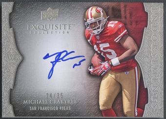 2009 Exquisite Collection #ECR Michael Crabtree Endorsements Rookie Auto #24/35