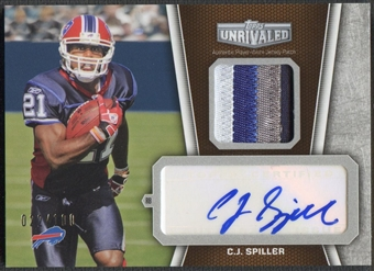 2010 Topps Unrivaled #UAPCS C.J. Spiller Rookie Patch Auto #022/100