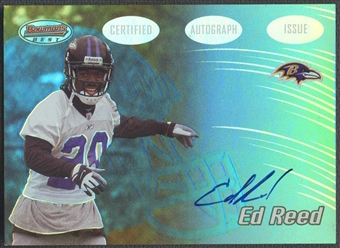2002 Bowman's Best #133 Ed Reed Rookie Auto