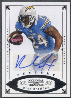 2012 Panini National Treasures #83 Ryan Mathews Century Black Signature Auto #4/5