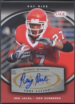 2008 SAGE #48 Ray Rice Red Rookie Auto