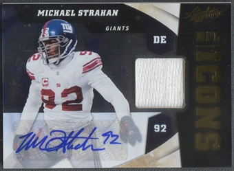 2011 Absolute Memorabilia #30 Michael Strahan NFL Icons Jersey Auto #06/10