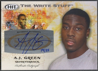 2011 SAGE HIT #WSA4 A.J. Green Write Stuff Rookie Auto #19/25