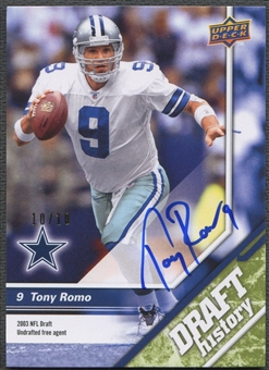 2009 Upper Deck Draft Edition #156 Tony Romo Green Auto #10/10
