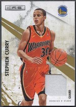 2010/11 Rookies and Stars #86 Stephen Curry Gold Materials Jersey #298/299