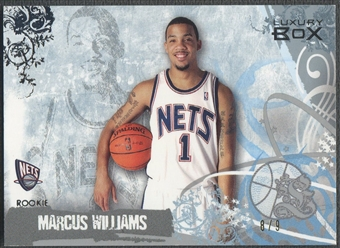 2006/07 Topps Luxury Box #83 Marcus Williams Silver Rookie #8/9