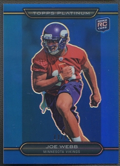 2010 Topps Platinum #102 Joe Webb Rookie Blue Refractor #13/99