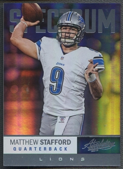 2012 Absolute #45 Matthew Stafford Spectrum Platinum #3/5