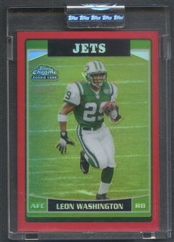 2006 Topps Chrome #238 Leon Washington Rookie Red Refractor #05/25