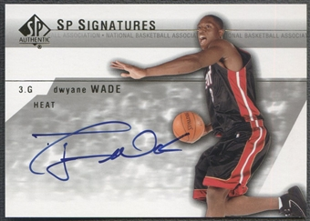 2003/04 SP Authentic #DYA Dwyane Wade Signatures Rookie Auto