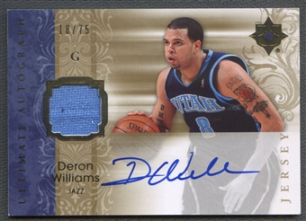 2006/07 Ultimate Collection #AUDW Deron Williams Jersey Auto #18/75