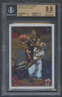 2003/04 Topps Chrome #115 Dwyane Wade Rookie BGS 9.5