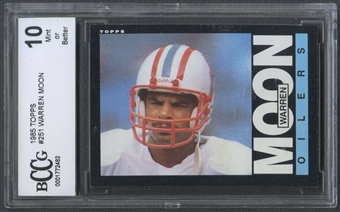 1985 Topps #251 Warren Moon Rookie BCCG 10