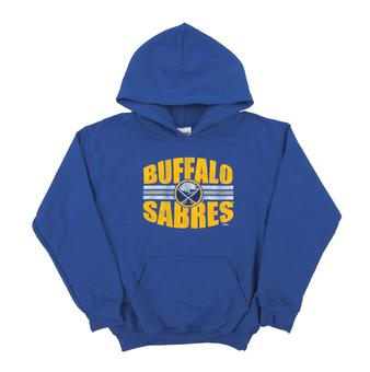 Buffalo Sabres Soft As A Grape Royal Youth Dual Blend Hoodie (Youth X-Large)