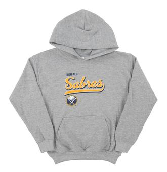 Buffalo Sabres Soft As A Grape Grey Youth Dual Blend Hoodie (Youth Large)