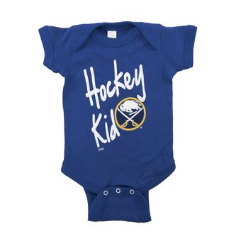 Buffalo Sabres Soft As A Grape Royal Hockey Kid Creeper (18 Months)