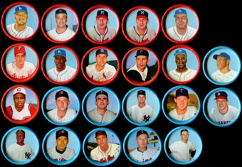 1963 Salada Baseball Coins Lot of 22 (21 Different) (Mantle)