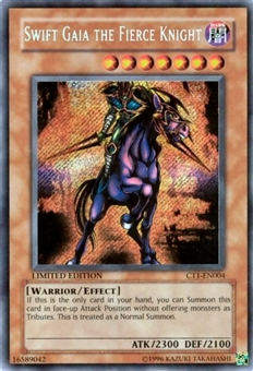 Yu-Gi-Oh Limited Edition Tin Single Swift Gaia Fierce Knight Secret Rare CT1