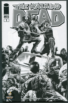 Walking Dead #1 Wizard World Nashville Sketch Black and White Exclusive