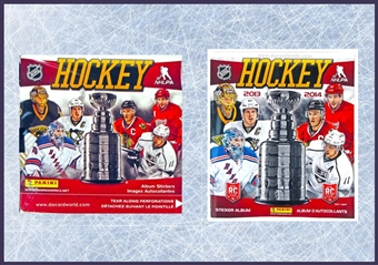 2013-14 Panini Hockey Sticker Box + Album
