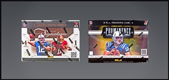COMBO DEAL - 2012 Panini Football Hobby Boxes (Prime Signatures, Prominence)