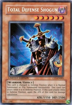 Yu-Gi-Oh Limited Edition Tin Single Total Defense Shogun Secret Rare (CT1-EN00