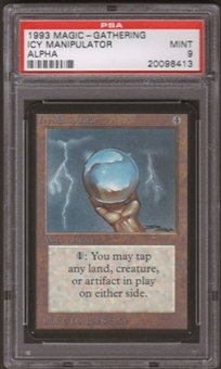 Magic the Gathering Alpha Single Icy Manipulator PSA 9
