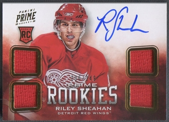 2012/13 Panini Prime #122 Riley Sheahan Rookie Jersey Auto #206/249