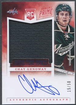 2012/13 Panini Prime #23 Chay Genoway Prime Time Rookie Jersey Auto #15/50