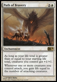 Magic the Gathering 2014 Single Path of Bravery - NEAR MINT (NM)