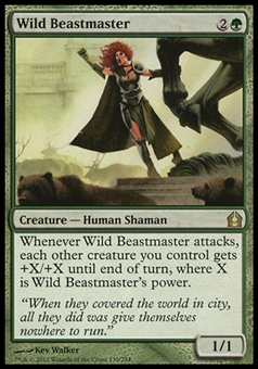 Magic the Gathering Return to Ravnica Single Wild Beastmaster - NEAR MINT (NM)