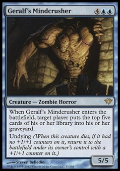 Magic the Gathering Dark Ascension Single Geralf's Mindcrusher - NEAR MINT (NM)