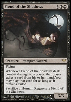Magic the Gathering Dark Ascension Single Fiend of the Shadows Foil - NEAR MINT (NM)