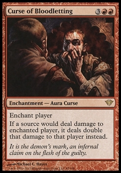Magic the Gathering Dark Ascension Single Curse of Bloodletting - NEAR MINT (NM)