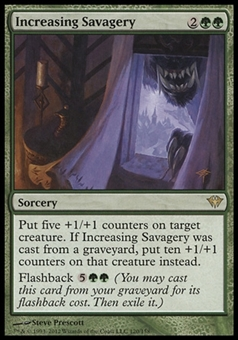 Magic the Gathering Dark Ascension Single Increasing Savagery - NEAR MINT (NM)