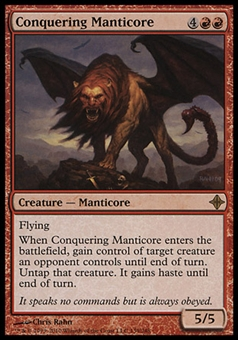 Magic the Gathering Rise of the Eldrazi Single Conquering Manticore - NEAR MINT (NM)