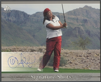 2005 SP Signature #KI Christina Kim Signature Shots 8x10 Rookie Auto