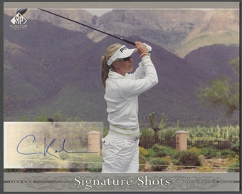 2005 SP Signature #CK Carin Koch Signature Shots 8x10 Auto