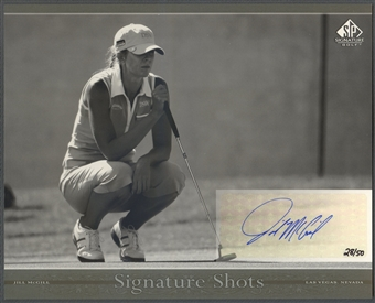 2005 SP Signature #28 Jill McGill Signature Shots Black-White 8x10 Rookie Auto #28/50