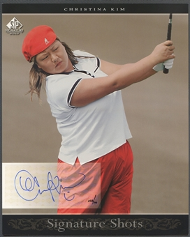 2005 SP Signature #29 Christina Kim Signature Shots Portrait 8x10 Rookie Auto #025/100
