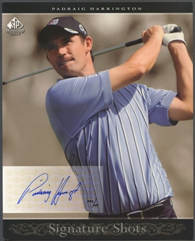 2005 SP Signature #6 Padraig Harrington Signature Shots Portrait 8x10 Auto #045/100
