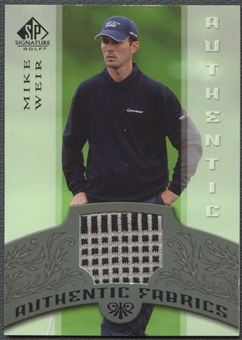 2005 SP Signature #MW Mike Weir Authentic Fabrics Singles Shirt