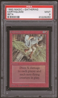 Magic the Gathering Beta Single Earthquake PSA 9