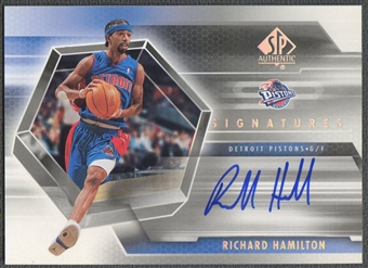 2004/05 SP Authentic #RH Richard Hamilton Signatures Auto